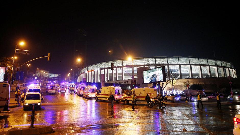 İstanbul Beşiktaşta polise bombalı saldırı!