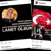 Ülkemizde yaşanan terör olaylarına dikkat çekmek için sosyal medyayı kullanan sosyete ve iş dünyasının ünlü isimleri, dün akşam İstanbul Beşiktaş