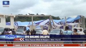 Nijerya'da bir kilisenin çatısı çöktü