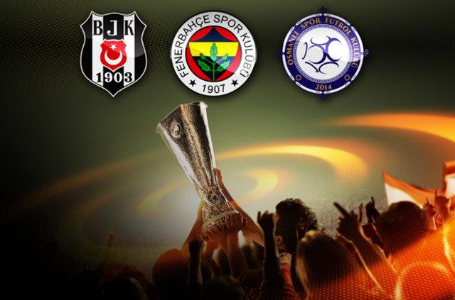 UEFA Avrupa Ligi'nde rakiplerimiz belli oldu (Beşiktaş - Fenerbahçe - Osmanlıspor