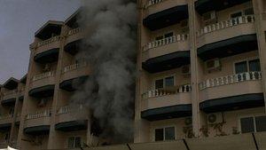 Marmaris'te kapalı otel kundaklandı