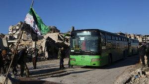 Halep'te yeni ateşkes sağlandı, tahliyeler başladı