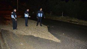 Bodrum'da isale hattı borusu patladı