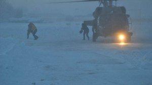 Muş'ta askeri helikopterle kurtarma operasyonu