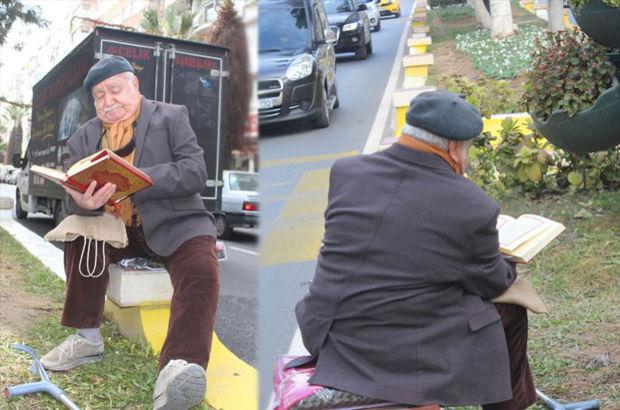 83 yaşındaki Kamil Dede'den ilginç eylem!
