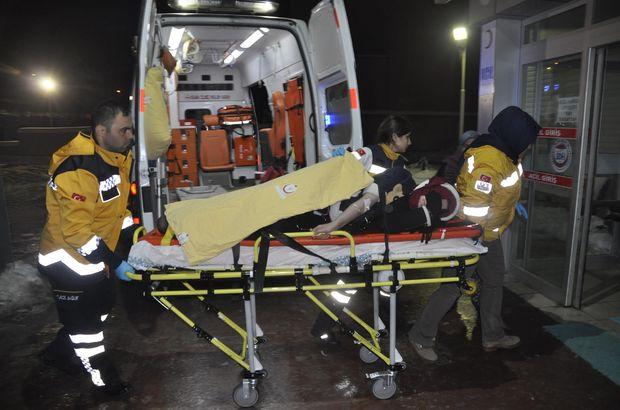 Konya Seydişehir'de karda kayan bir kişinin bacağına demir saplandı