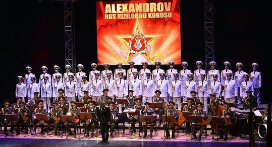 Aleksandrov Kızıl Ordu Korosu 25 Ocak 2014'te İstanbul'da konser vermişti