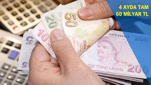 4 ayda Türk Lirası mevduata 60 milyar TL geldi