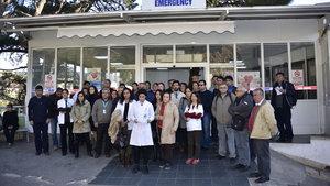 Sağlık çalışanlarından şiddet protestosu