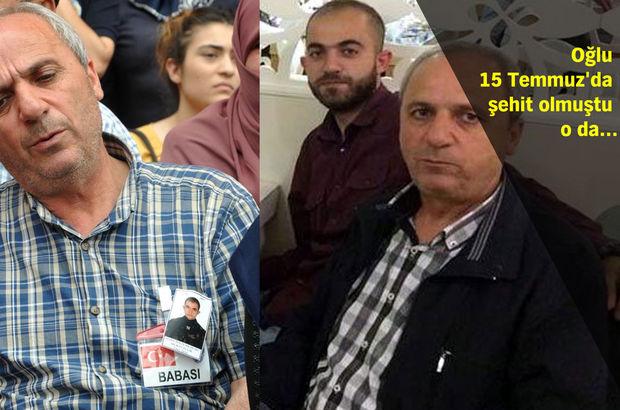 Oğlu 15 Temmuz'da şehit olan babanın en acı görevi