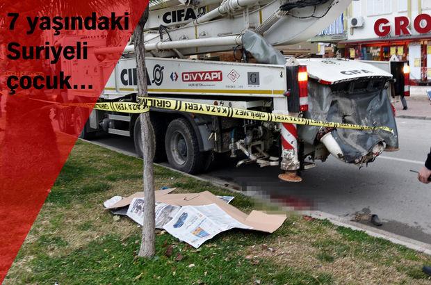 Antalya Beton mikseri Trafik kazası
