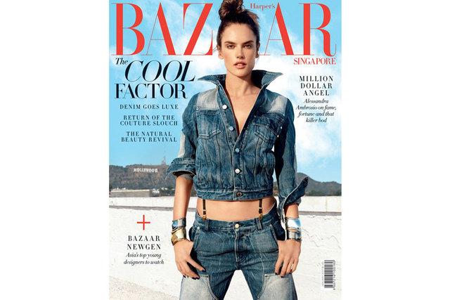 Alessandra Ambrosio, Harper's Bazaar'ın Singapur edisyonu için objektif karşısına geçip seksi pozlar verdi