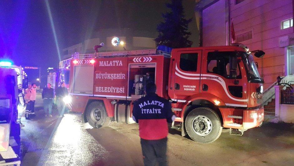 Malatya Öğrenci yurdu yangın