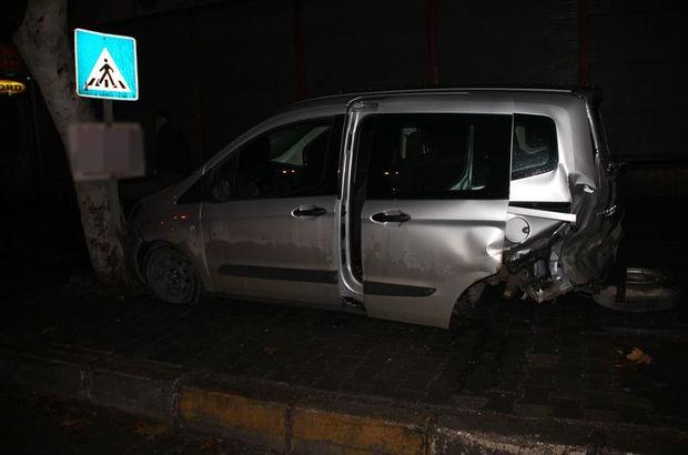 Adana'da maddi hasarlı zincirleme trafik kazası meydana geldi