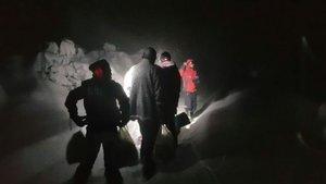 Karda mahsur kalan eşi için Instagram'dan yardım istedi, NAK ekipleri kurtardı
