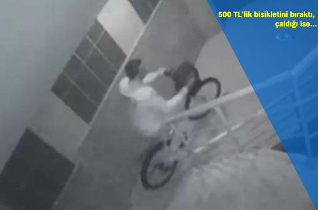 Antalya'da hırsız 500 TL'lik bisikletini bıraktı, 200 TL'lik motoru çaldı