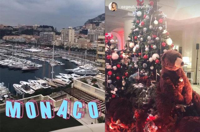 Özge Ulusoy ile Hacı Sabancı Monaco'da