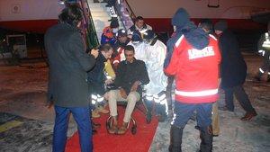 Yemen'den 160 hasta tedavi için Türkiye'ye geldi