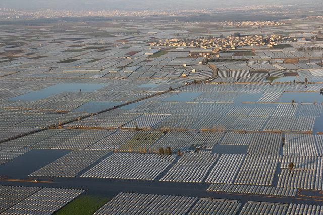 Mersin'deki sel felaketi havadan görüntülendi