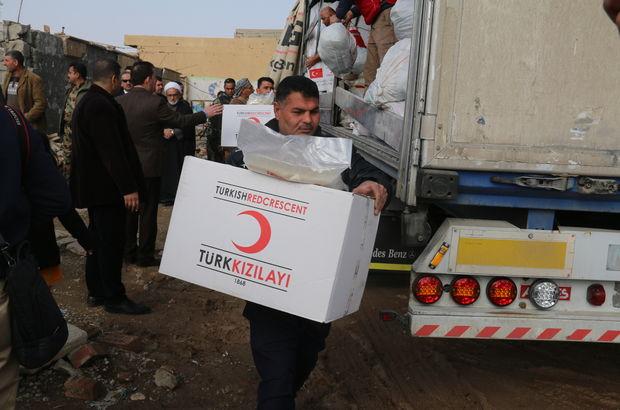 Türk Kızılayından DEAŞ'tan kurtarılan kasabaya yardım