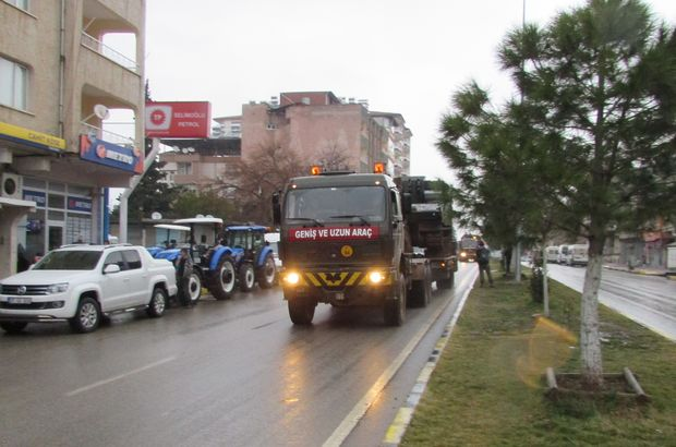 Gaziantep'e Suriye sınırına askeri sevkiyat