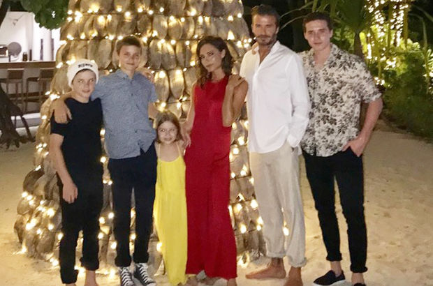 Beckham'ların aile fotoğrafı