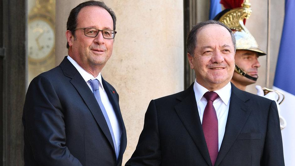 François Hollande Mesut Barzani
