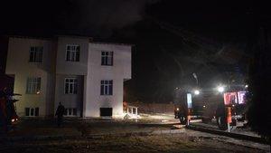 Manisa'da öğrenci yurdunda yangın