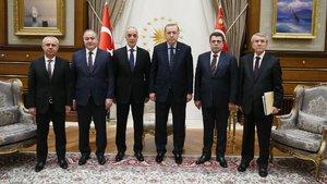 Cumhurbaşkanı Erdoğan Türk-İş Genel Başkanı Atalay'ı kabul etti