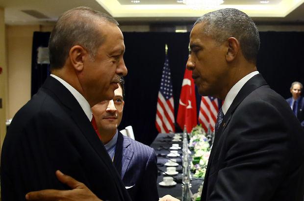 Cumhurbaşkanı Erdoğan ile Obama görüştü