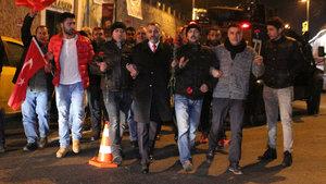 Taksiciler Reina saldırısında hayatını kaybedenleri andı