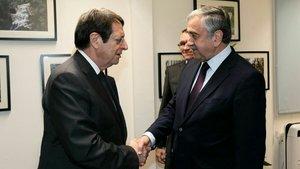 KKTC Cumhurbaşkanı Akıncı  ile Rum lider Anastasiadis kritik görüşme