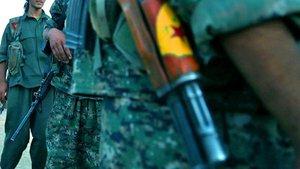 Afrin'de PYD'ye 'alıkoyma' protestosu