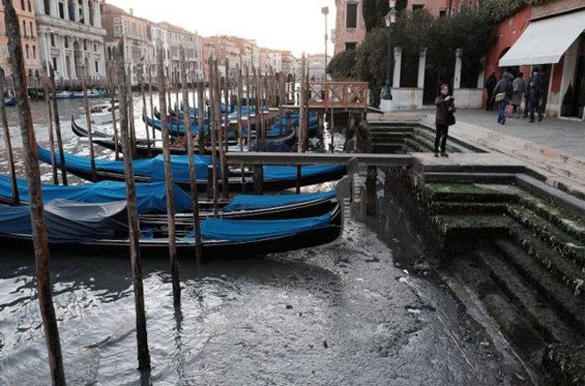 Venedik kanalları susuz kaldı