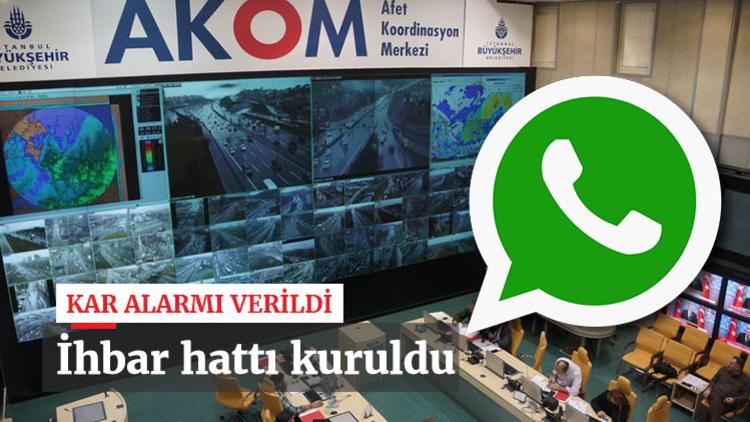 AKOM kış koşullarında olumsuzluklara karşı vatandaşların işbirliğiyle sorunları çözmek için WhatsApp ihbar hattı kurdu.