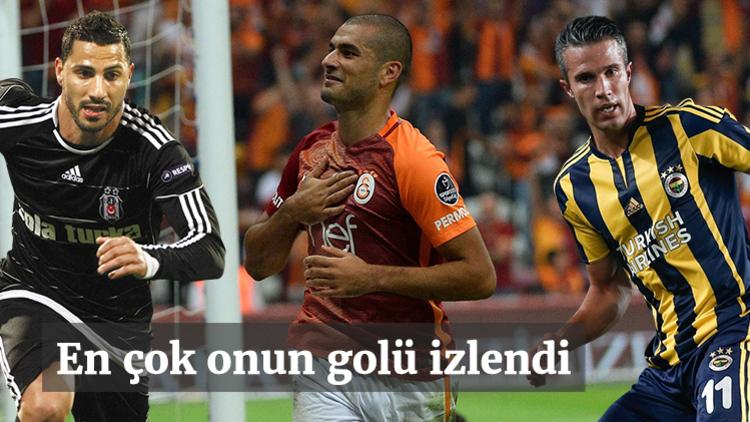 Süper Lig'in ilk yarısında en çok izlenen golü, Galatasaray'ın yıldızı Eren Derdiyok attı.