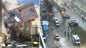 İzmir'deki patlamadan ilk görüntüler!