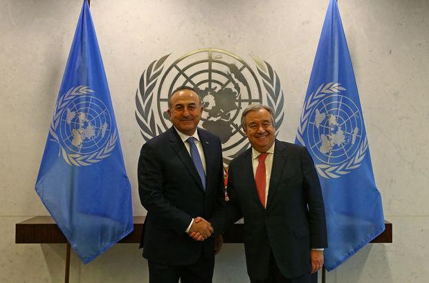 Dışişleri Bakanı Mevlüt Çavuşoğlu BM Genel Sekreteri Antonio Guterres