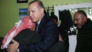 Erdoğan'ın ziyaret ettiği şehit ailesini sevindirdi