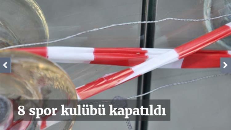 679 nolu Kanun Hükmünde Kararname (KHK) kapsamında Şırnak, Gaziantep, Malatya ve Kocaeli'de faaliyet gösteren 8 spor kulübü kapatıldı. Karar Resmi Gazete'de yayınlandı. İşte kapatılan kulüpler: