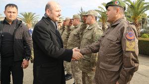 Bakan Süleyman Soylu, Hatay'da askerlerle bir araya geldi