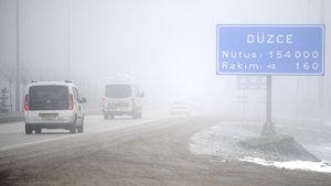 D-100 karayolunda sis etkili oluyor