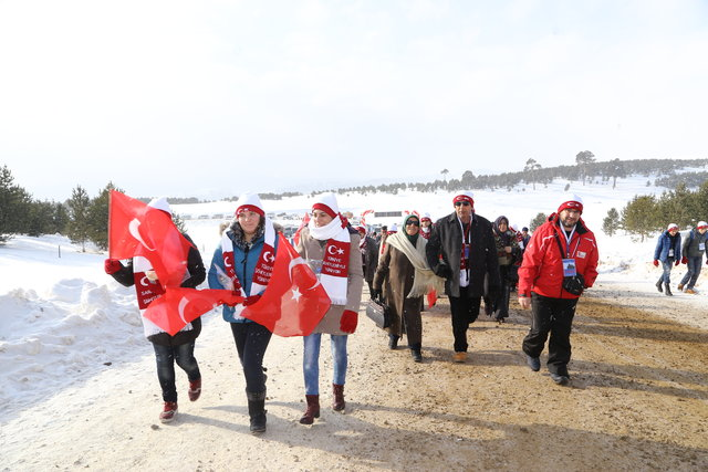 Sarıkamış Harekatı'nın 102. yılı anma etkinlikleri kapsamında düzenlenen 4,5 kilometrelik yürüyüş başladı