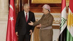 Yıldırım ve Barzani'den PKK ve DEAŞ mesajı