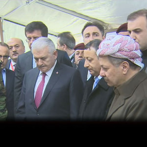 Başbakan Yıldırım Peşmerge güçlerini ziyaret etti