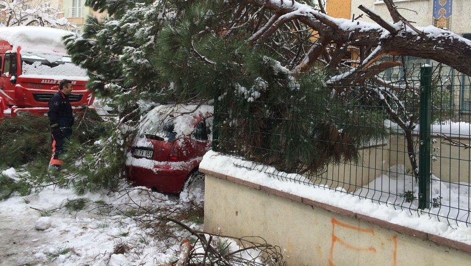 İstanbul Ümraniye Kar yağışı