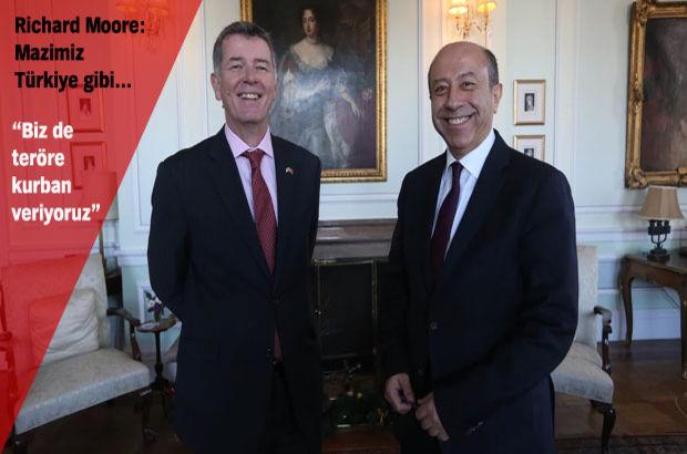 İngiltere Büyükelçisi Richard Moore Muharrem Sarıkaya