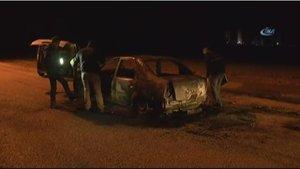 Adana'da taksiciyi dövüp aracını yaktılar