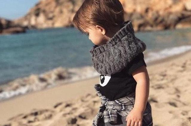 Wesley Sneijder'in oğlu tam bir stil ikonu