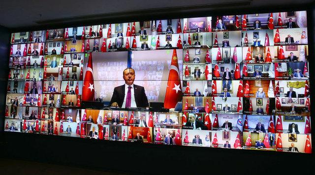 Cumhurbaşkanı Erdoğan 81 il valisiyle telekonferans yaptı